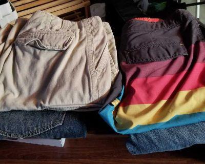 Jeans, shorts, bathing suit