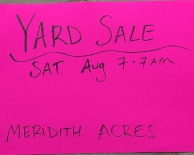 Multi-family yard sale this Saturday 8/7, starting at 7AM.