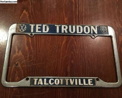 Ted trudon license plate frame