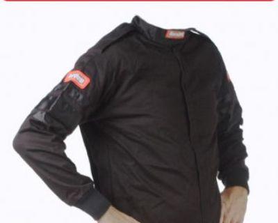 Racequip 111005 Large Black Racing Driving Jacket Series 111 Two Piece Suit
