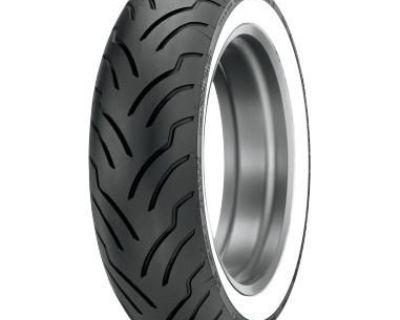 Harley Davidson Dunlop American Elite 130/90b16 Www 67 H, White Wall, Front Tire