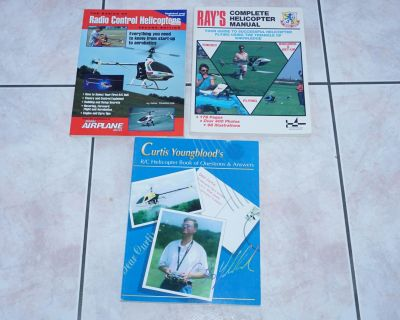 3 Books R/C Helicopter NEW