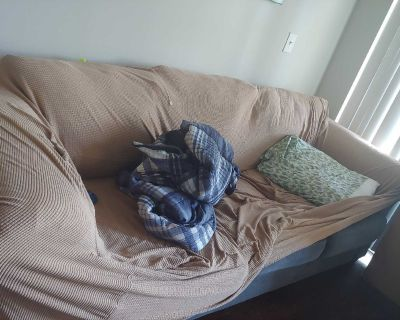Free Blue 3 Seat Couch