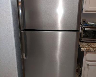 Frigidaire 18 c f  Stainless Steel Refrigerator