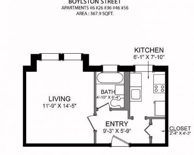 AVAILABLE NOW! - STUDIO/1BATH IN FENWAY-PET FRIENDLY, HEAT & HOT WATER INCLUDED!!