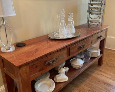 Solid wood buffet table; other matching pieces available