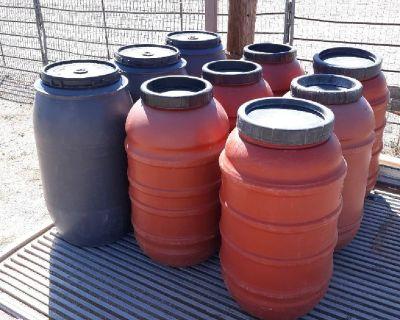 Feed Storage Barrels