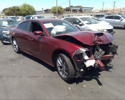 Salvage Burgundy 2020 Dodge Charger