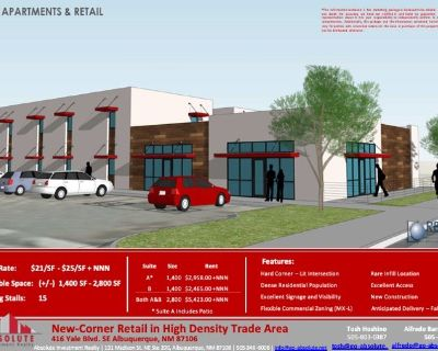 New-Corner Retail in High Density Trade Area