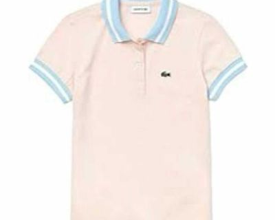 NWT girls pink Lacoste Polo