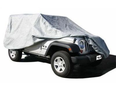 07-12 Rampage Jeep Wrangler Jk 4 Door Full Car Cover 4 Layer Gray W/ Cable Lock