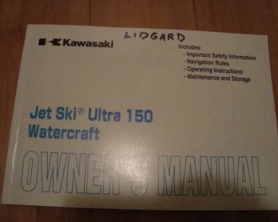 Kawasaki Ultra Jet Ski Owners Manual Ultra 150 Watercraft