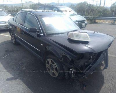 Salvage Black 2002 Volkswagen Passat