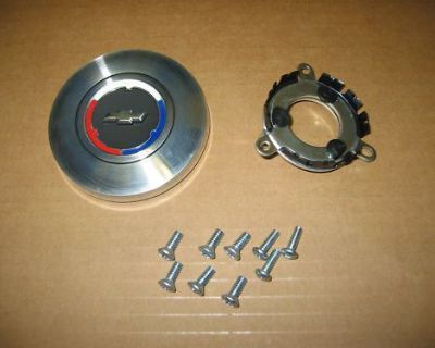 67 68 69 70 Chevelle And El Camino 3 Spoke Or Wood Wheel Horn Cap Kit