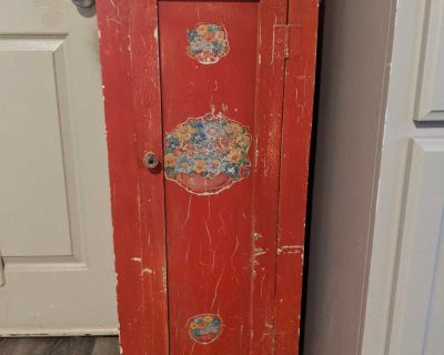 Red painted jelly cupboard