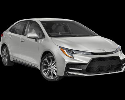 New 2022 Toyota Corolla SE 4 door Front Wheel Drive