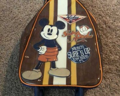 Disney Mickey Mouse Surf Team Rolling Bag/Suit Case