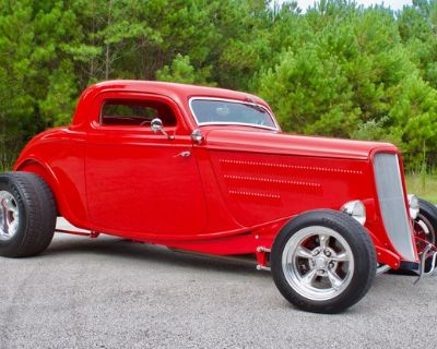 1934 Ford 3 Window 2-door 3-Window Chopped Coupe Hi-Boy Roadster Stretched Three-Window Engine Swap Speedster