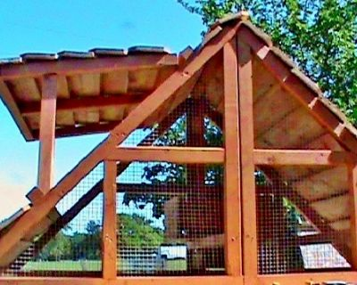 On Sale- US Made Portable 2-12 Chickens Coop Hen House For Sale- a video shows how we winterize them