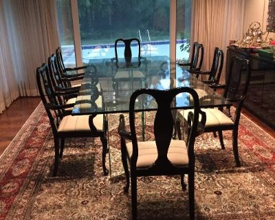 Mid Century Ranch Home - Designer Furniture -9 ft. Dining Table- Vintage Patio Sets -