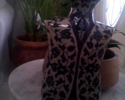 I have a blue and white vase