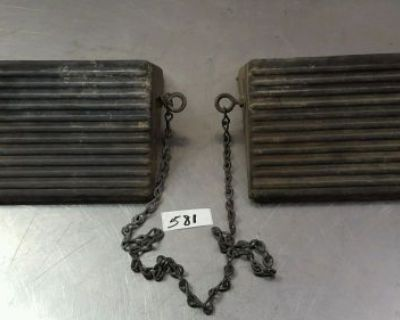 2 Wheel Chock With Eye Bolt And Chain Used #581