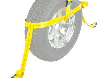 Universal Auto Wheel Tire Car Ratchet Net Basket Tie Down Strap (cts-rat-cam)