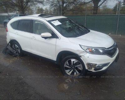 Salvage White 2015 Honda Cr-v