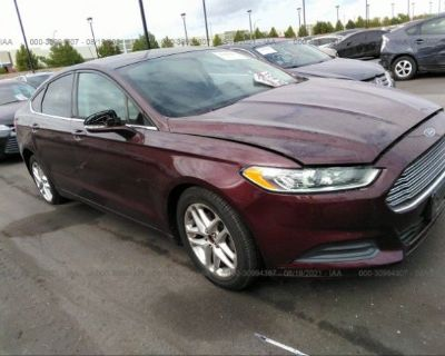 Salvage Burgundy 2013 Ford Fusion