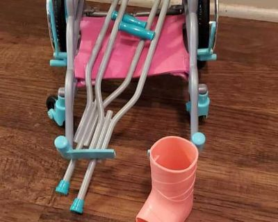 My Life Wheel chair and crutches with cast