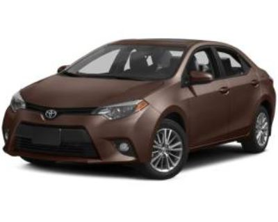 2014 Toyota Corolla L Manual