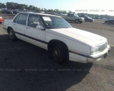 Salvage White 1991 Buick Lesabre
