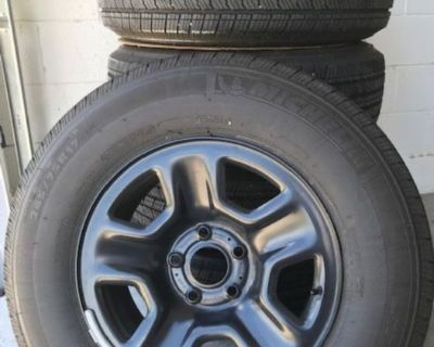 Florida - For Sale: Wrangler Stock Wheels and Tires (5) - 245/75/R17