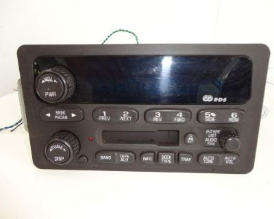 Cassette Player Am/fm Radio Tuner Gm Models Not Working For Parts Repair Only D