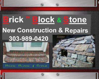 Brick Block & Stone Bricklayer New Construction and Repairs [303] 989-0420