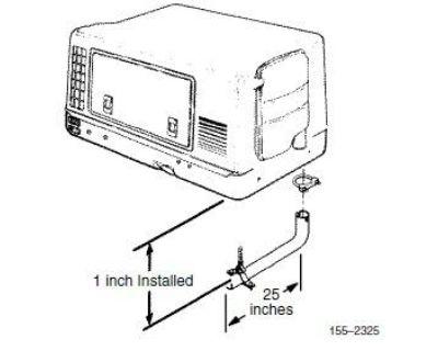 """Cummins Onan 155-2325 25"""" Aluminized Steel Tailpipe Kit"""