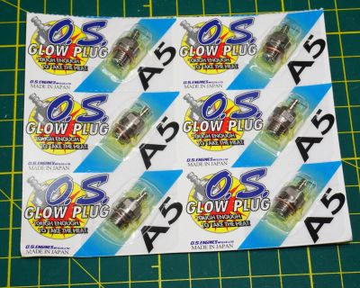 6 OS Glow Plugs #10 or A5 (For large engine) NIB