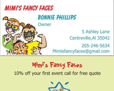 Childrens partys face painting