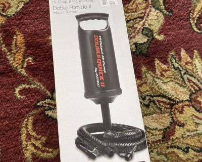 New INTEX Double Quick II hand pump $4