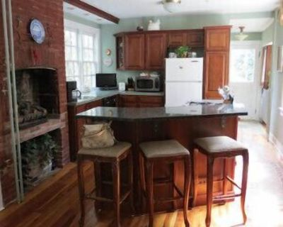 One-bedroom apartment with fireplaces in all three rooms: living room, kitchen and bedroom. Cozy front porch. 5 minute walking distance to City Dock. - Historic District