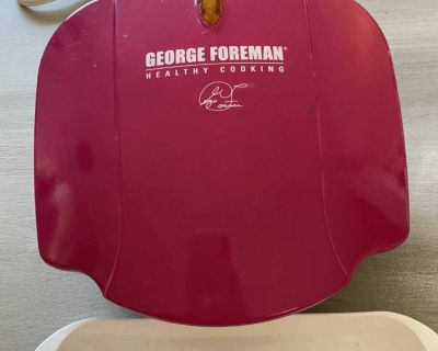 Small pink George Forman grill-perfect for dorm!