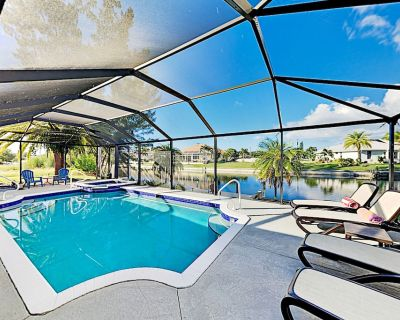Waterfront Oasis | Private Caged Pool, Spa & Dock | Gas Firepit & Gas Grill - Pelican