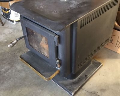 Brass Flame wood stove