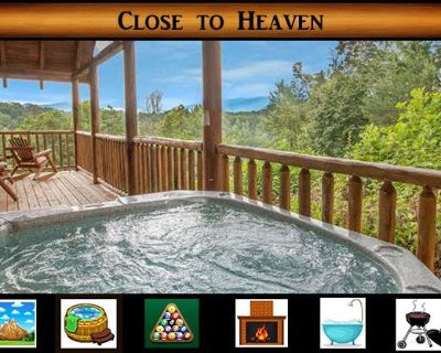 Close To Heaven} Hot Tub / Jacuzzi Tub / Pool Table / Fireplace - Pigeon Forge
