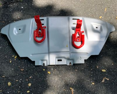 New Jersey - FX4 Skid Plate + Hardware + Red Ford Performance Tow Hooks