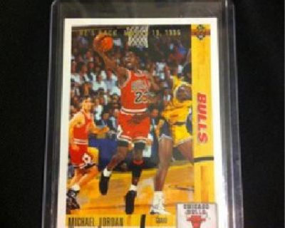 "$3.99 1991-92 Upper Deck Michael Jordan ""He's Back"" Card"