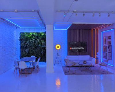 Event Space with LED lights near Dundas Square, Toronto