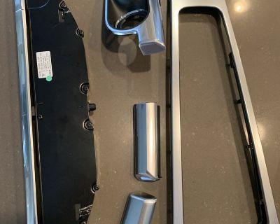 Carrera s 991 Silver/Aluminum Dash Center Console Interior Trim