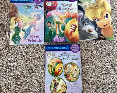 Tinkerbell/fairies early readers book lot 3 individual & 1 collection book with 3books inside