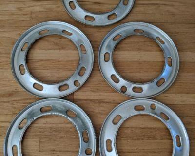 "VW Karmann Ghia Beauty Wheel Trim Rings 15"""
